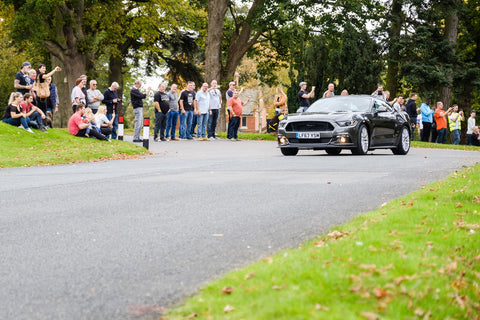Attendees watch Hill Climb at The Big NEM-10 Event & Car Meet