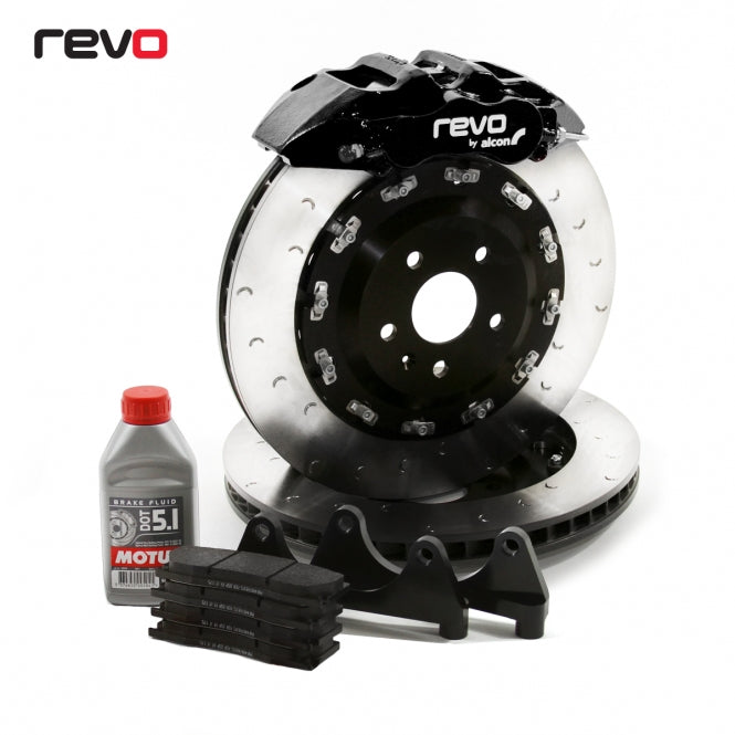 Revo Big Brake Kit Mono 6 feat Black/Red/Silver Calipers for Ford Mustang GT 5.0L/Ecoboost 2.3L/V6 3.5L 2015-18
