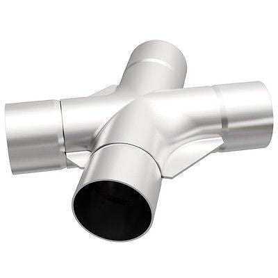 "Universal Tru Cross-Over X-Pipe 2.25"" x 9.5"" Stainless Steel 