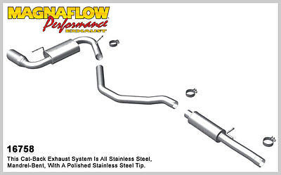 DODGE CALIBER SRT-4 2.4T 2008-2009 Magnaflow Performance Cat-Back Exhaust 16758