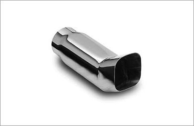 "3"" Out Square DTM 2.25"" Inlet 304 Polished Stainless  Magnaflow Exhaust Tip"