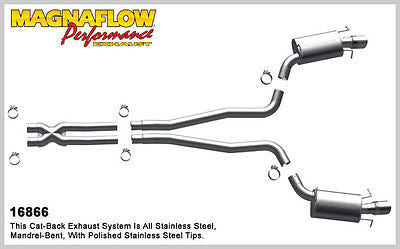 Magnaflow Cat-Back Exhaust (Polished Tips) for Cadillac CTS 6.2L 2009-12 | #16866
