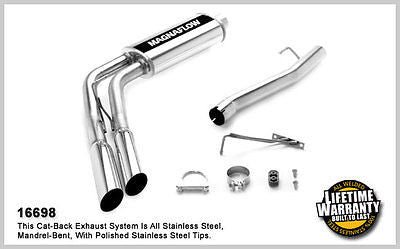 Dodge Ram 1500 V8 5.7L 2006 Dual Side Exit MagnaFlow Performance Exhaust 16698