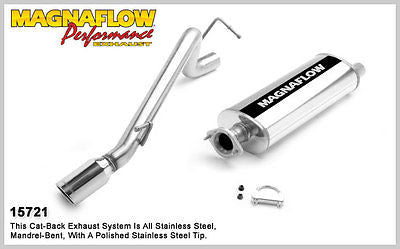 Jeep Cherokee / Liberty V6 3.7L 02-03 MagnaFlow Performance Exhaust 15721