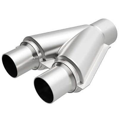 "Universal Y-Pipe Transition 2.25/2.5"" x 10"" Stainless Steel 