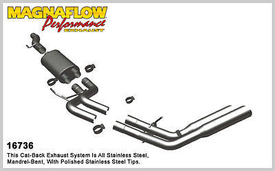 FORD F150 2009-2010 V8 4.6L 5.4L Magnaflow Performance Cat-Back Exhaust 16736