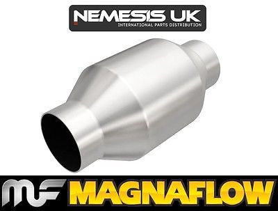 "Universal High Flow Cat 57mm 2.25"" C/C 200 Cell Round 4"" x 8"" 
