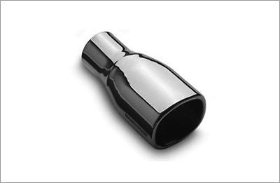 "3x3.5"" Out Rectangle 2.25"" Inlet 304 Polished Stainless Magnaflow Exhaust Tip"
