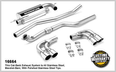 "OPEL GT / SATURN SKY 2.0T 07-> 2.5"" Magnaflow Performance Cat-Back Exhaust 16664"