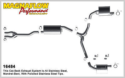 DODGE CHALLENGER 3.5L V6 2009-2010 Magnaflow Cat-Back Performance Exhaust 16484