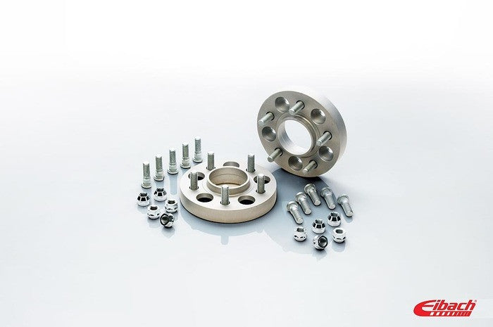 Eibach 25mm Wheel Spacer Kit (Pair) (Silver) for Mustang 2015-21 | #S90-4-25-063