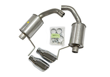 Birds eye view Roush Performance Axle-Back Exhaust for Ford Mustang 2.3L Ecoboost 2015-18 | #421837