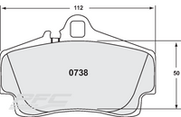 PFC0738-10 Boxster & Cayman Rear Pads Nemesis UK