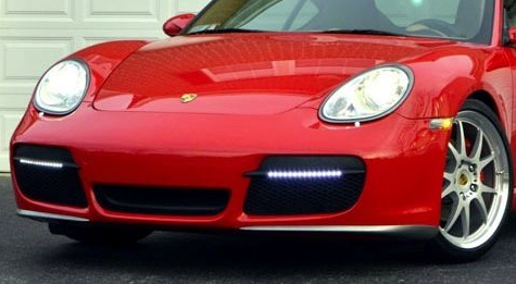 LED Daylight Running Lights Upgrade and Fog Light Replacement for Cayman 987.1 2005-08 NEM3001