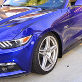 Front & Rear Rock Guards for Ford Mustang 2015on Black ZL1 Addons