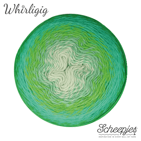 Scheepjes Whirligig 207 Green to Blue