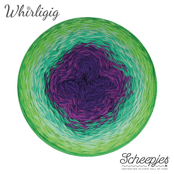 Scheepjes Whirligig 208 Green to Purple