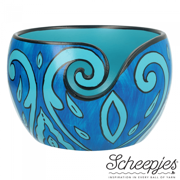 Scheepjes Yarn Bowl Blue leaf