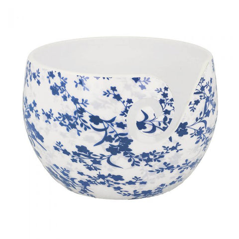 Scheepjes Yarn Bowl Blue Leaf unbreakable