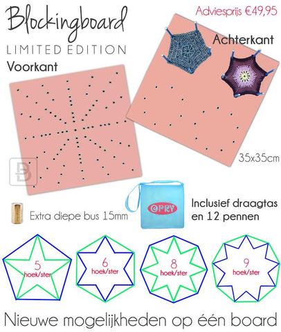 Scheepjes New Blocking Board Limited Edition PINK