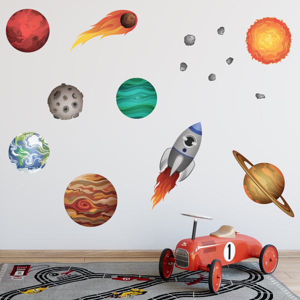 Solar System Planet Wall Stickers Set