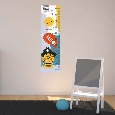 Pirate Height Chart Wall Sticker