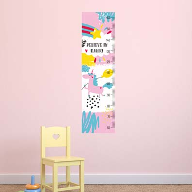 Unicorn Height Chart Wall Sticker