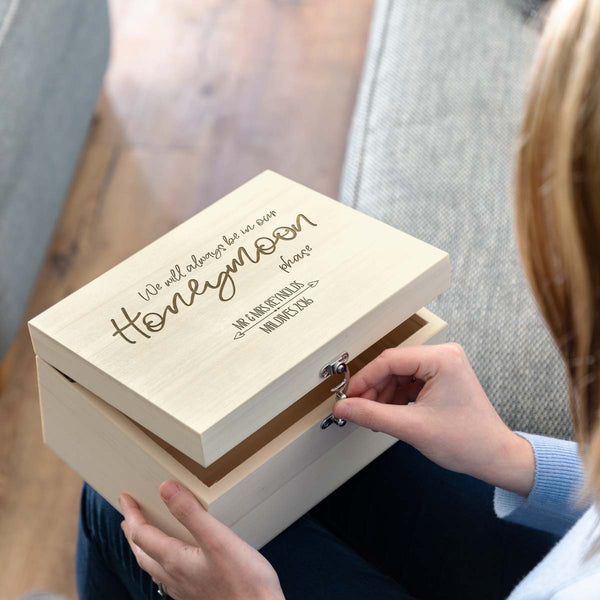 Personalised Honeymoon Keepsake Box