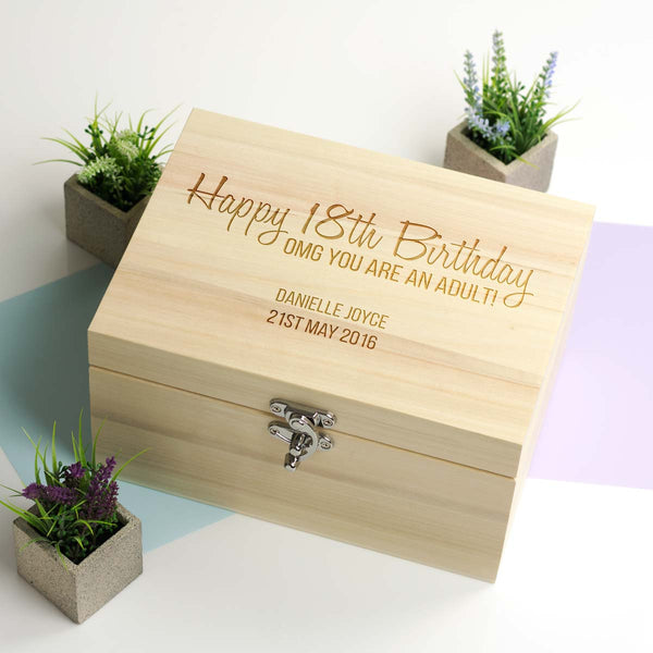 Personalised 18th Birthday Keepsake Box