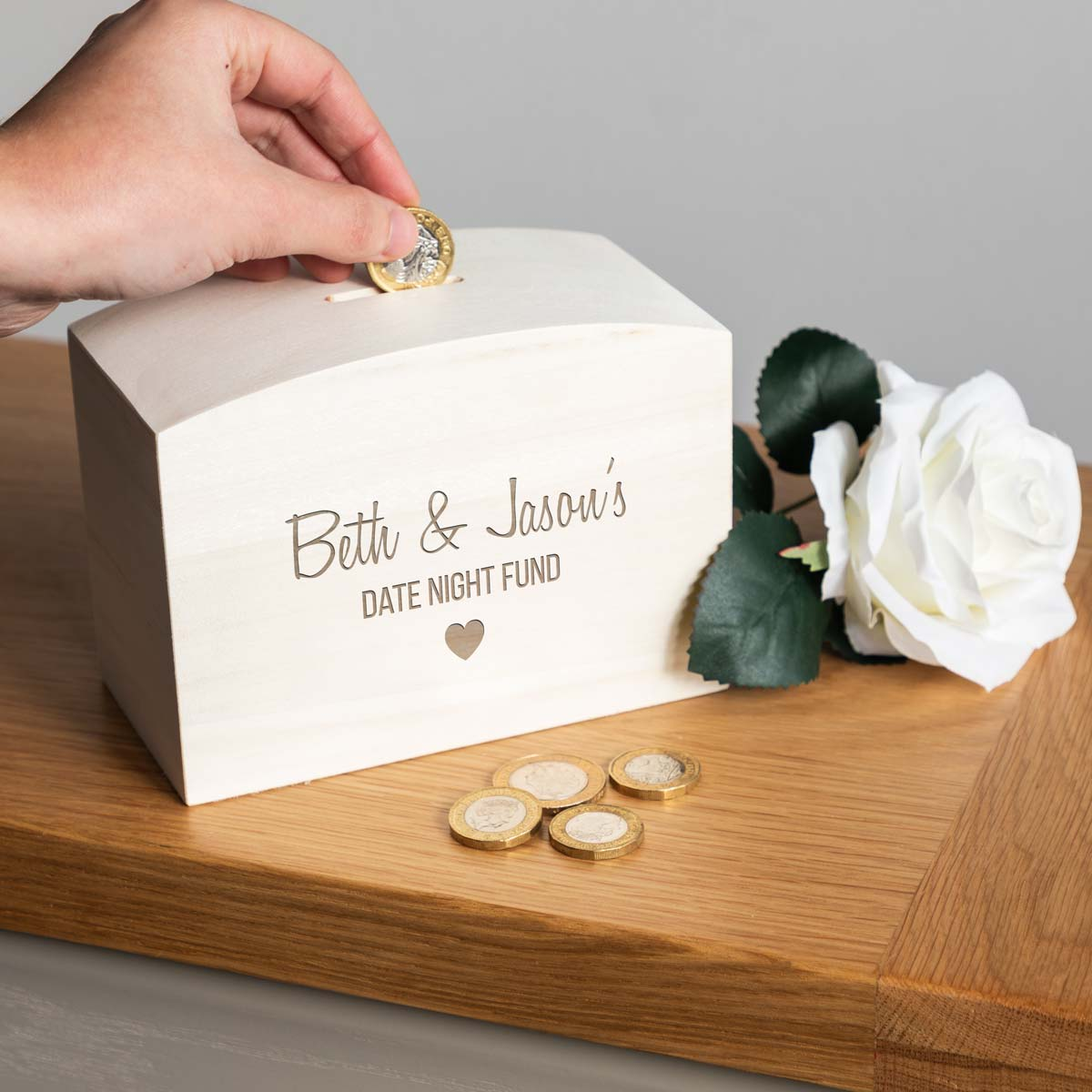 Personalised Date Night Fund Money Box