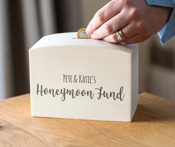 Personalised Honeymoon Fund Money Box