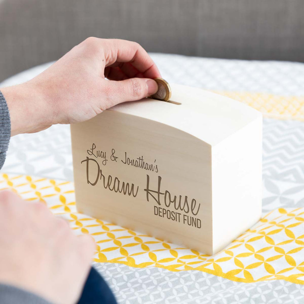 Dream House Fund Personalised Money Box