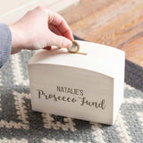 Personalised Prosecco Fund Money Box