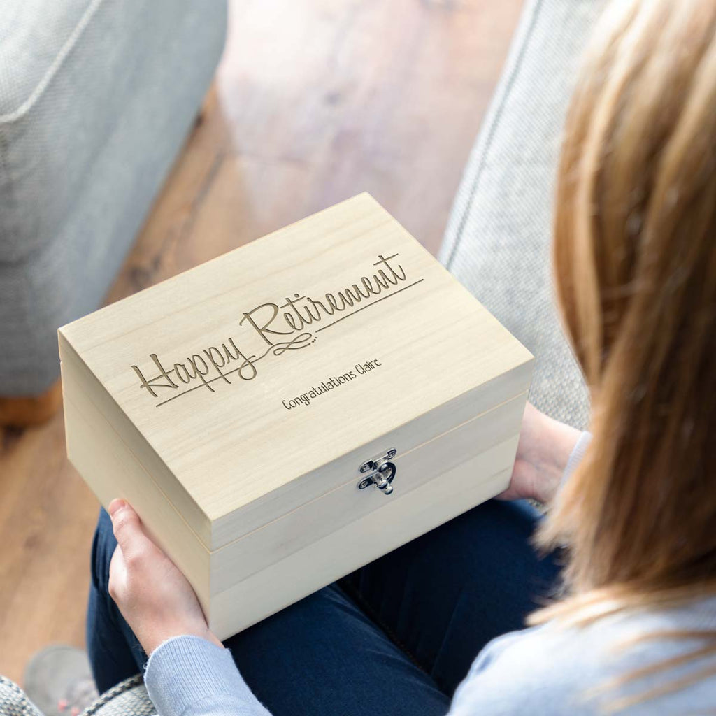 Personalised Retirement Gift Keepsake Box