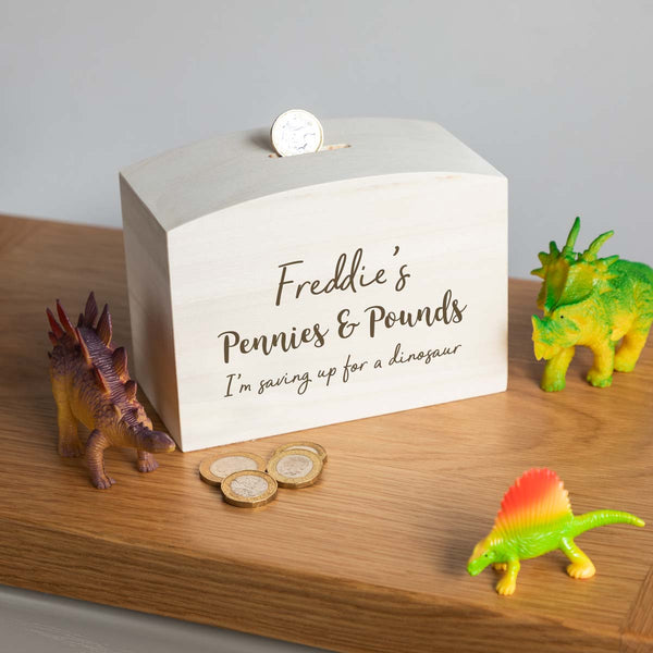 Personalised Childrens Wooden Money Box