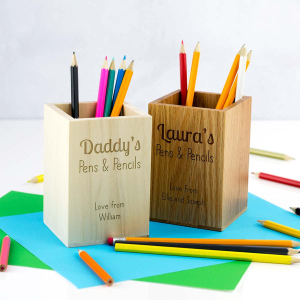 Personalised Pen and Pencil Holder