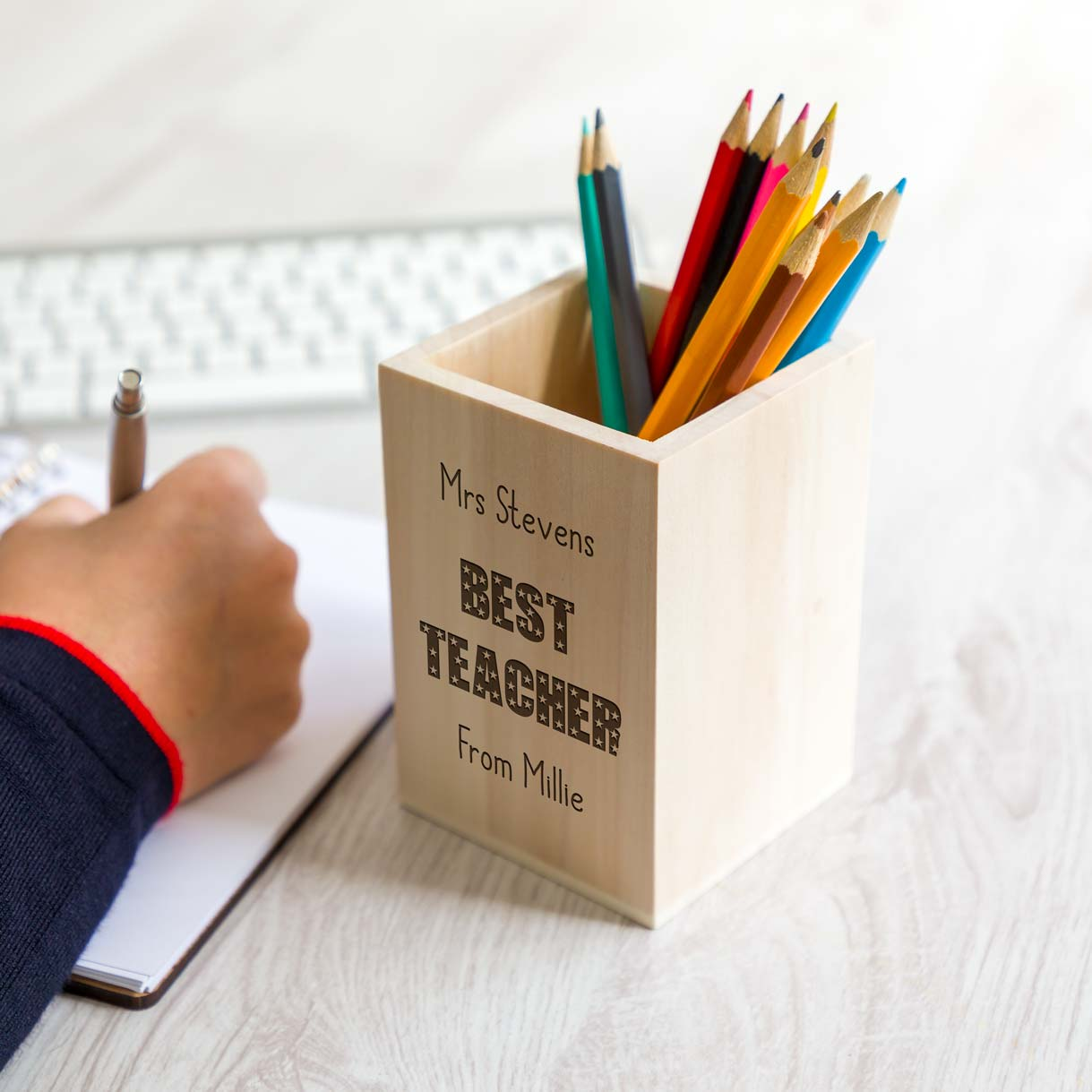 Personalised Best Teacher Pen Holder