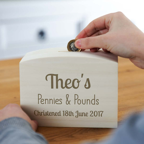 Personalised Christening Gift Money Box