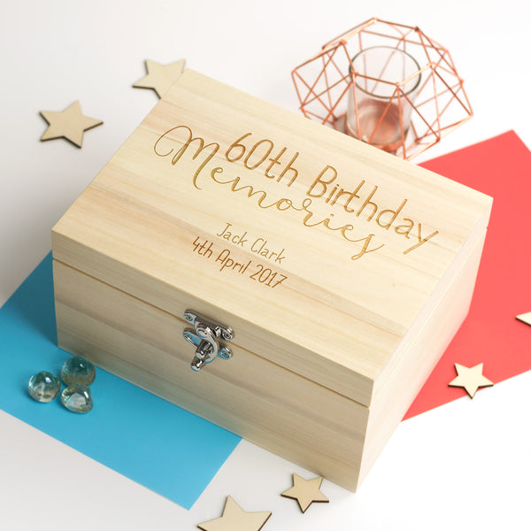 Personalised 60th Birthday Keepsake Box