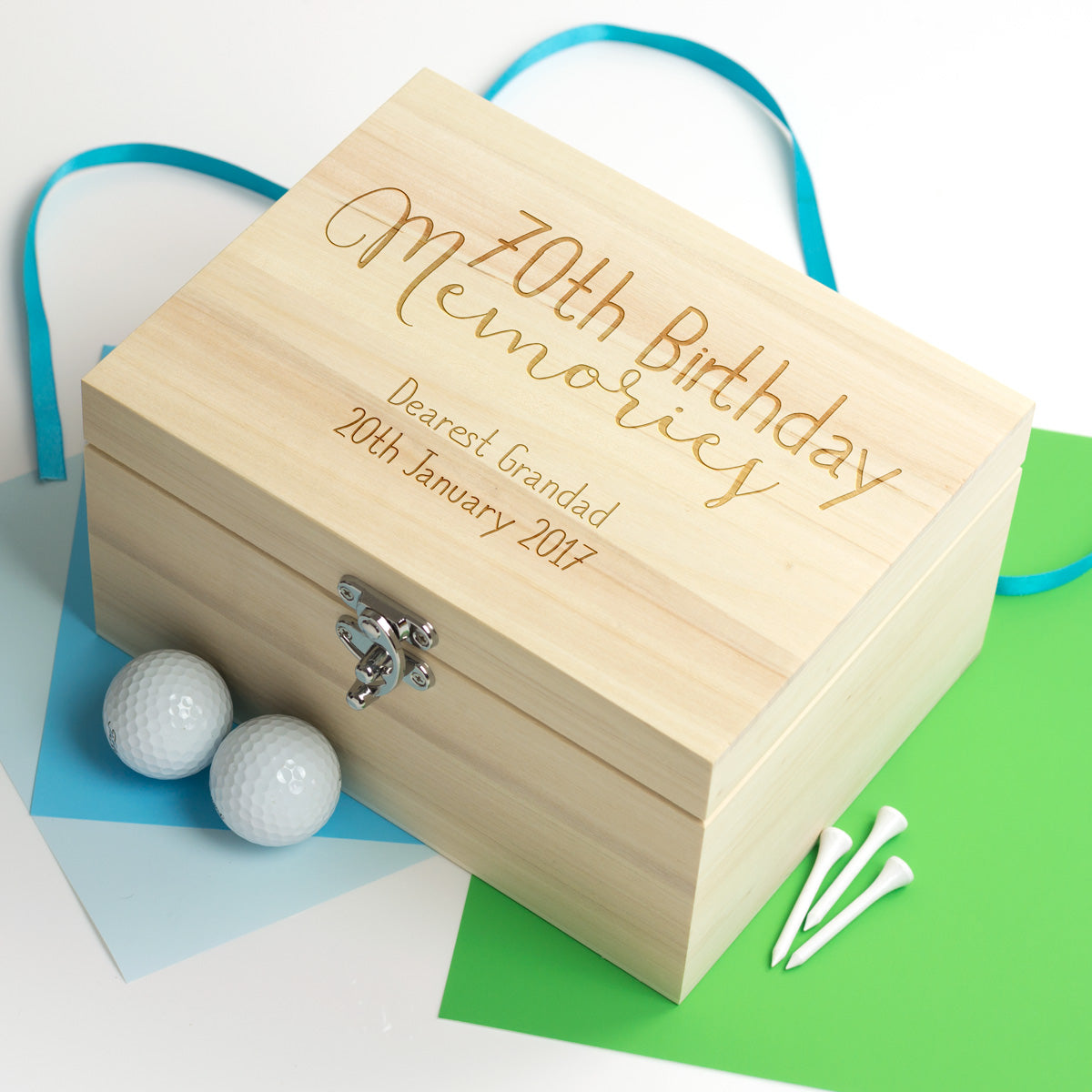 70th Birthday Memories Keepsake Box