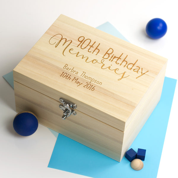 Personalised 90th Birthday Keepsake Box