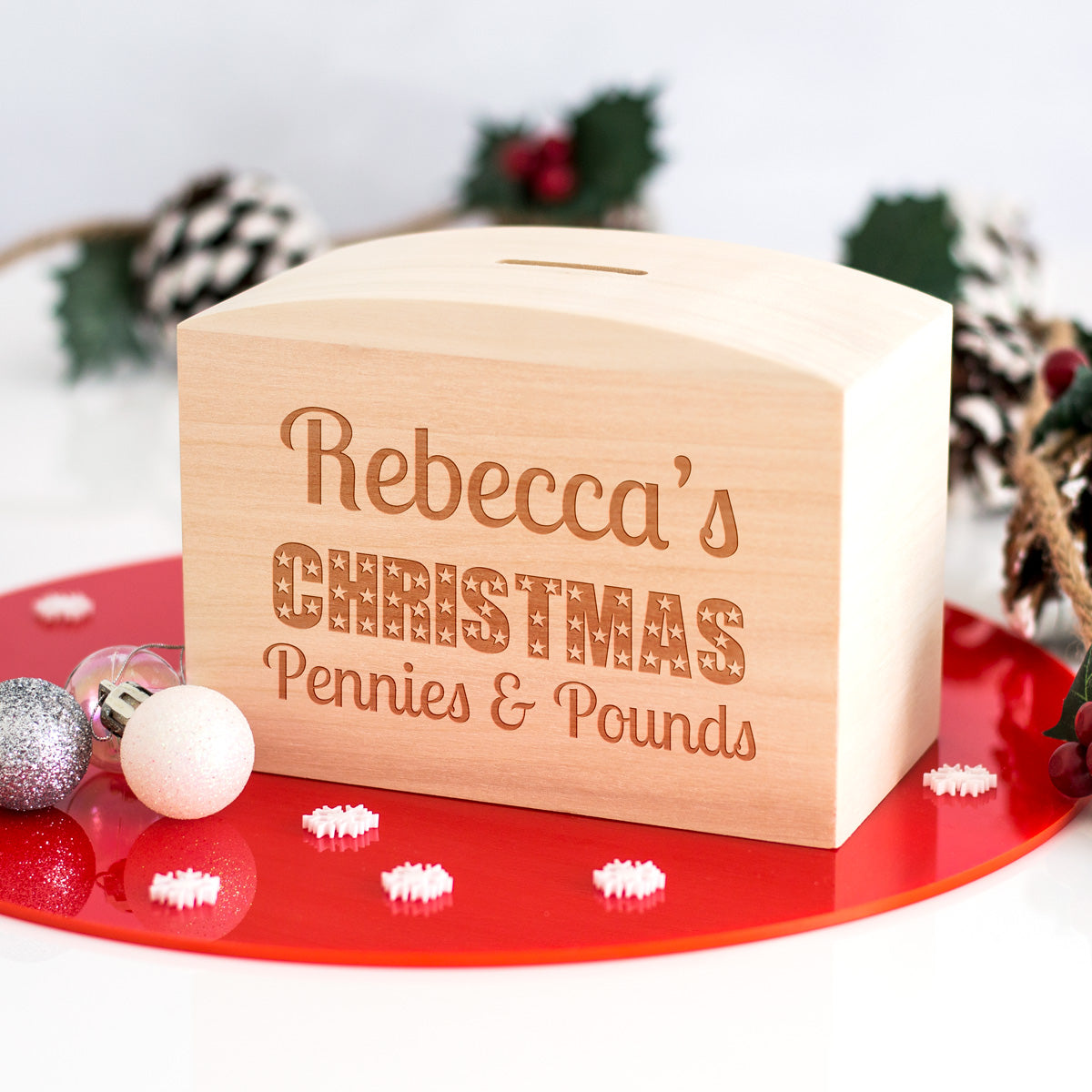 Personalised Christmas Money Box