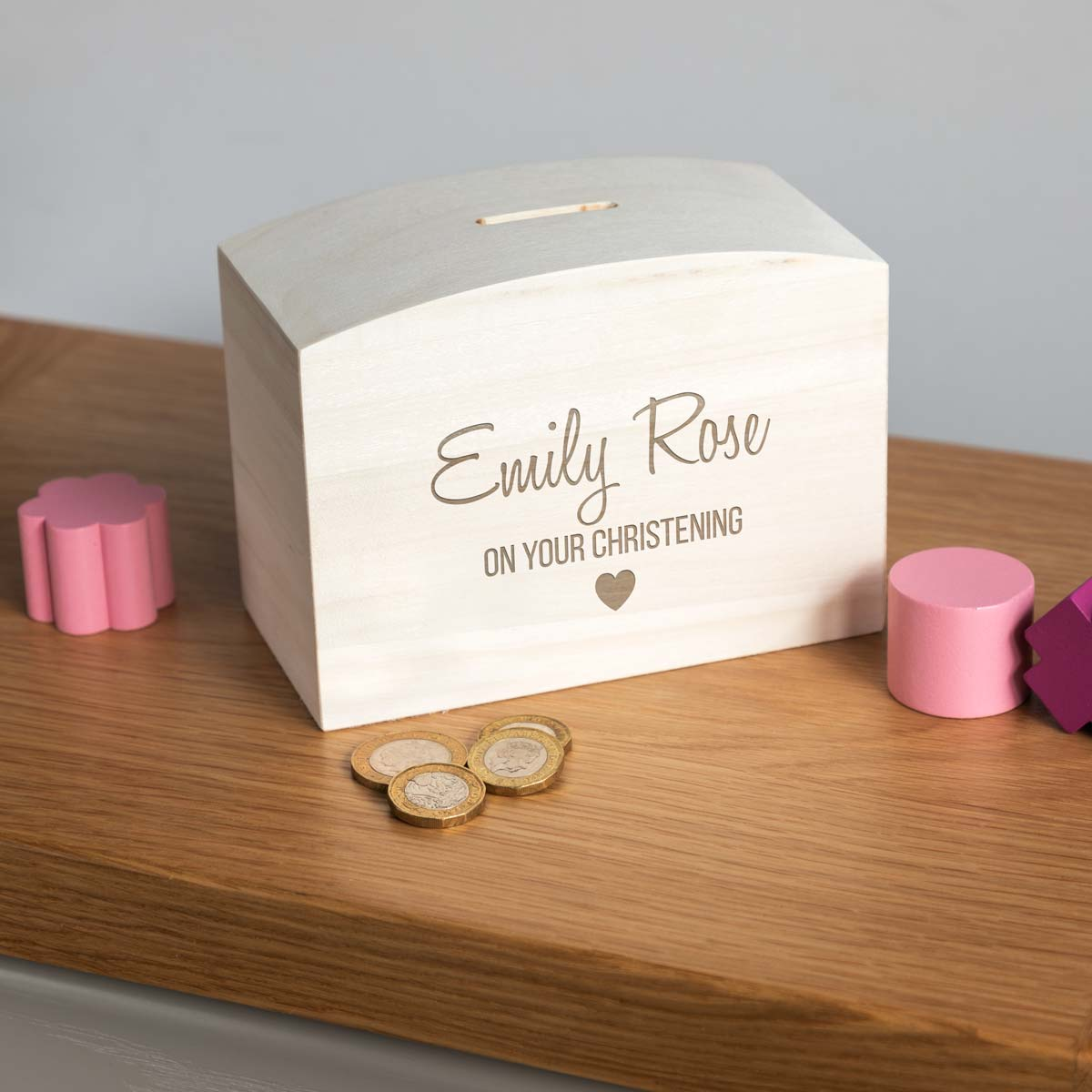 Personalised On Your Christening Money Box