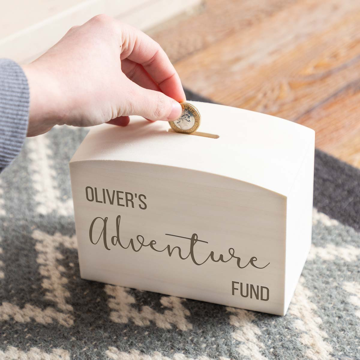 Personalised Adventure Fund Money Box
