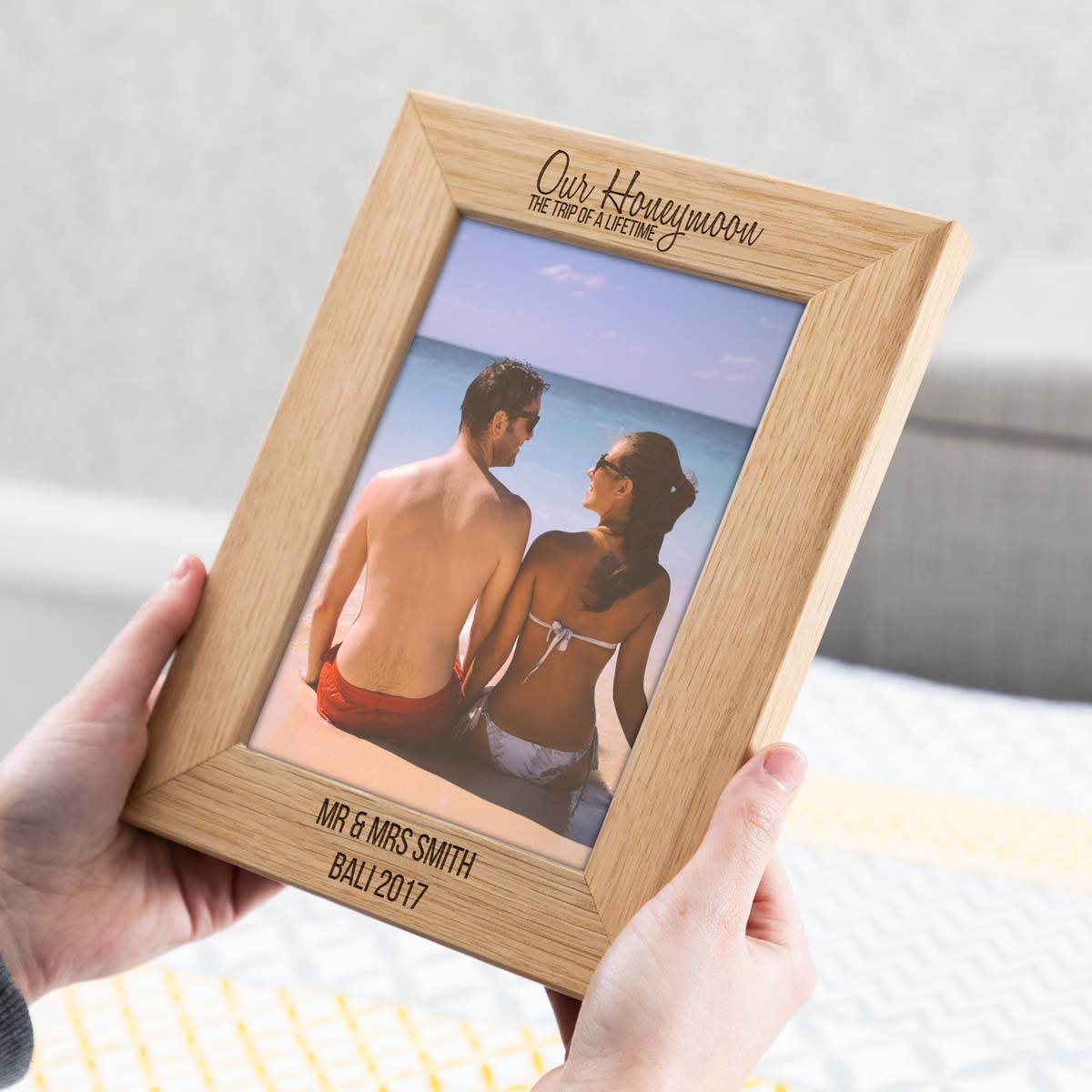 Personalised Honeymoon Photo Frame
