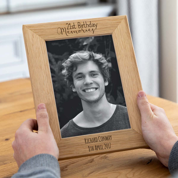 Personalised 21st Birthday Photo Frame