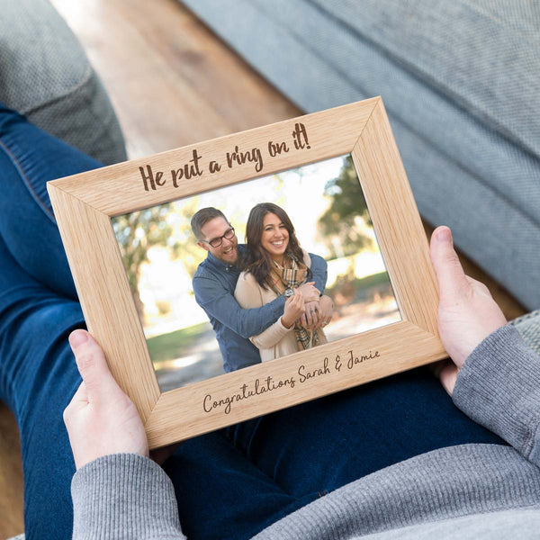 Personalised Engagement Photo Frame Gift