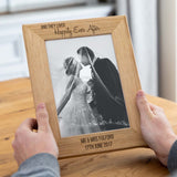 Personalised Happily Ever After Wedding Photo Frame