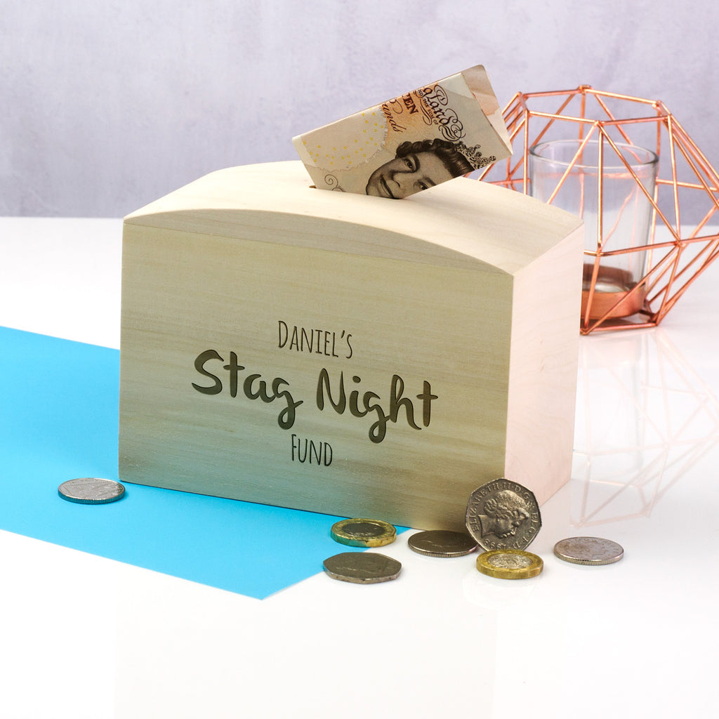 Personalised Stag Night Fund Money Box