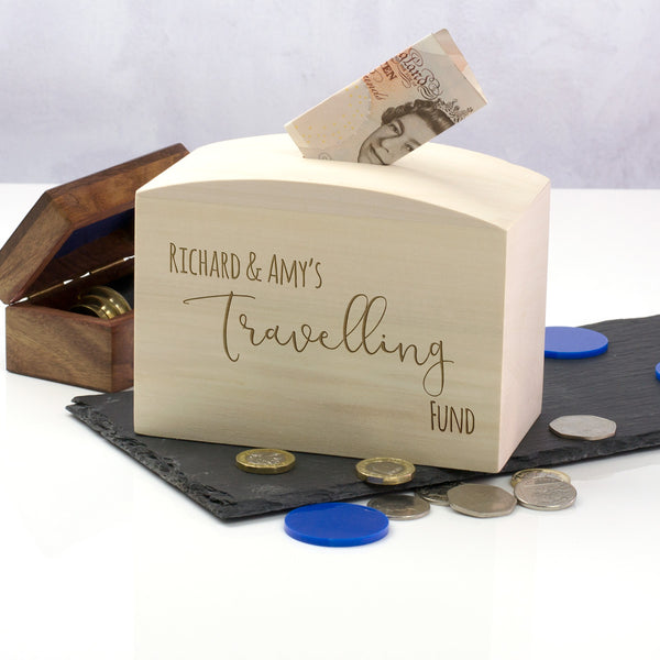 Personalised Travelling Fund Money Box